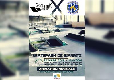 Le Kiwanis organise une session au skatepark de Biarritz